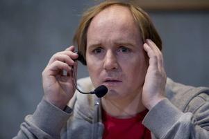 Misslyckad skådespelare. Morgan Alling gör rollen i kvällens föreställning på Gävle teater.