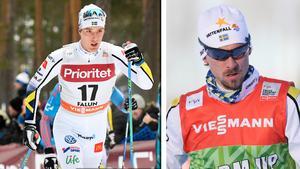 Calle Halfvarsson och Johan Olsson är strukna från skiathlon.