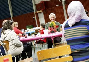 Signhild Östlund fick blommor eftersom hon var hyresvärdens äldsta kund.