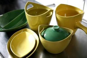 25 delar. Den gul-gröna ugnseldfasta serien Fyris ritades av Sven-Erik Skawonius på 1950-talet. Som mest gjordes den i 25 olika delar, många av dem står i Barbro Råsbrants köksskåp.