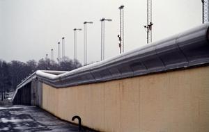 Fängelsemuren på kriminalvårdsanstalten Hall utanför Södertälje söder om Stockholm.