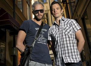 Debutanter. Jonas och Joakim träffades på Stockholms stadsteater och började bygga upp en studio tillsammans. Nu bildar de duon Narcissistic Street.Foto: Janerik  Henriksson/ Scanpix