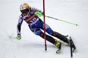 Terese Borssén under första åket i Levi.