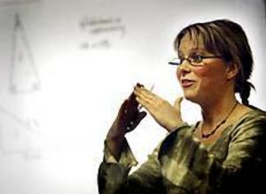 Matte är roligt. Det försäkrar Annette Östberg, lärare på Rotskärsskolan i Skutskär och en av eldsjälarna i projektet Matteklivet. Foto:NICK BLACKMON