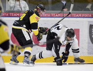 Tufft möte. Kan Andreas Lindh och VIK få AIK på fall i ABB Arena i kväll?FOTO: MARGARETA ANDERSSON/VLT ARKIV