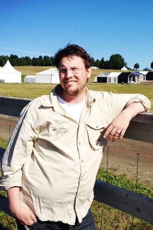 Hans Werthén har bråda dagar som mässgeneral för Fäviken Game Fair.