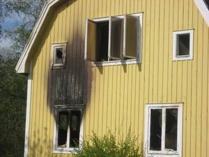 Sommarhuset på Säljansvägen var tomt när branden startade.