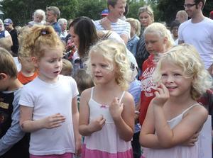 Kompisarna Nina, Ebba och Elsa såg fram emot att springa Öjemaran även fast de var lite nervösa.