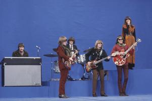 Den amerikanska rockgruppen Jefferson  Airplane, när det begav sig, under 1960-talet.