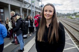 Amanda Karlsson, en av de 20 ingenjörsstudenter, som kom till Härnösand för ett tre dagar långt studiebesök.