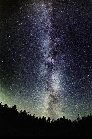 Vintergatan från Andersön. Försök att räkna stjärnorna.     Foto: Göran Strand