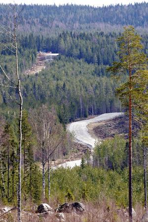 Vägarna har rätats och förstärkts för att Vestas ska kunna köra in 660 långtradare som ska bli Sveriges största vindkraftspark med 66 vindsnurror.