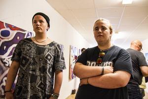 Sebastian och Christoffer Strömbom har tillsammans med Timmy Stigås ställt ut graffitimålningar.