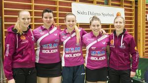 Ett nöjt Junolag som obesegrat leder serien med fyra poäng Sofia Egertz, Arina Singeorzan, Hannah Holgersson, Huda Mustafa och Sofia Westholm.