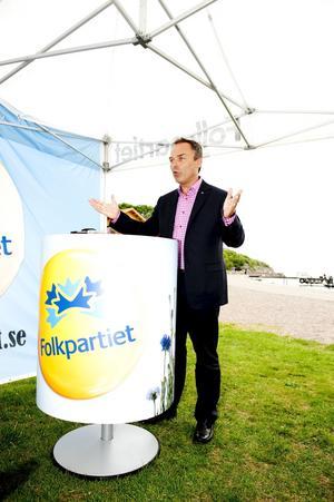 På hugget. Folkpartiledaren Jan Björklund förmår väcka uppmärksamhet och driva opinion.