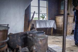 Gamla köket finns kvar i den form som var modern då.