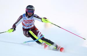 Frida Hansdotter slutade fyra i slalompremiären. Foto: TT.