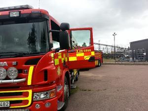Det var ett ställverk i Repbäcken utanför Borlänge som ska ha fattat eld under tisdagsmorgonen.