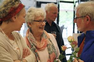 Jannie Pevik, projektledare i Hudiksvall hela livet tillsammans med bland andra skrivarna Gertrud Jonsson och Evan Berjlund.