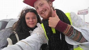 Marthias Risberg träffar på mycket människor när han är ute och liftar i Sverige.
