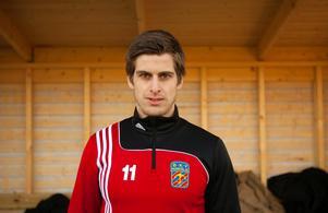 Andrés Thorleifsson i BKV:s träningsoverall förra säsongen.