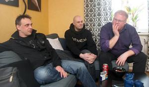 Kul att juryn valde oss, tycker Patric Nilsson, Martin Knutar och Stefan Stridh i Topix.