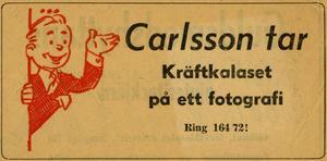 En annons. Förr hade inte alla en kamera.