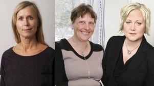 Ingrid Landin (MP), Berit Jansson (C) och Ulrika Falk (S)
