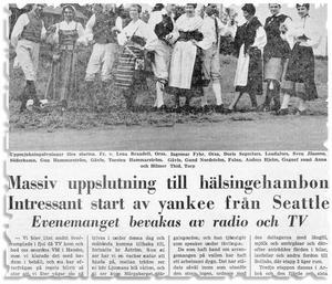 1966 vidareutvecklades VM i hambo till Hälsingehambon.