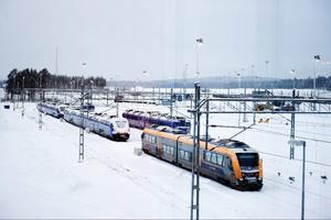 Tågen på Botniabanan och Ådalsbanan ställs in.