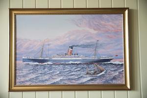 Med den här båten åkte Geirs farfar till Amerika.
