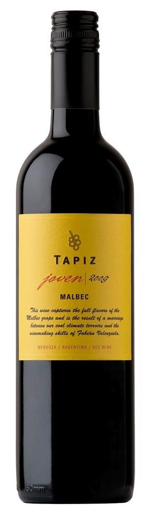 Gott köttvin. Tapiz Joven Malbec är ett mycket prisvärt och gott rödvin från Argentina som passar bra till mörka kötträtter.