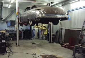 Ulf och Maria har dokumenterat arbetet med bilen väl.
