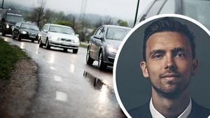 Meteorologen Lasse Rydqvist uppmanar folk att inte ge sig ut i onödan i trafiken under tisdagseftermiddagen och kvällen. Foto: Ryan Garrison/Arkiv