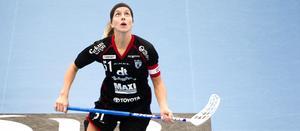 Therese Strömberg och hennes IBF Falun ställs på söndag mot Djurgården. Serieledaren som på åtta matcher inte tappat en enda poäng.