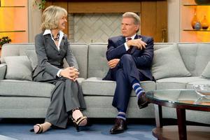 """Halvkul. Diane Keaton och Harrison Ford spelar nyhetsankare som hatar varandra i halvunderhållande """"Morning glory""""."""