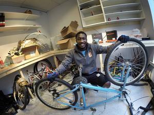En övergiven cykel har blivit som ny.