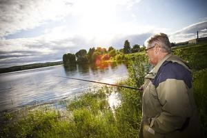 Barbro Lundquist testade fiskelyckan.