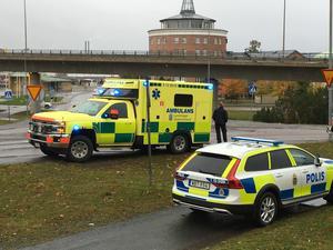 Äldre man blev påkörd av en bil vid påfarten till E4.