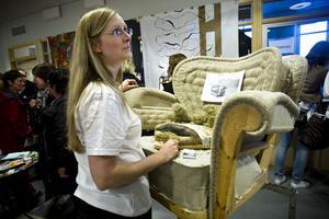 Kajsa Winder visade upp en av sina mer annorlunda kreationer.