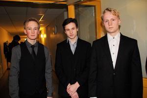 Jesper Söderström, Tobias Eriksson och Filip Haverinen.