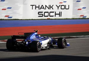 Marcus Ericsson under F1-loppet i ryska Sotji.