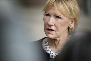 Utrikesminister Margot Wallström (S) är hjärnan bakom regeringens