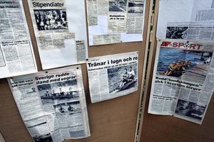 Gamla tidningsartiklar visar Kälarnes storhetstid som roddklubb.