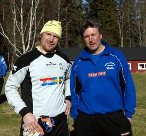 Profiler. Nygamle målvakten Jens Lissel och tränaren Tomas Hultgren är två profiler i årets Dala-Järna.