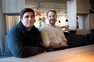 Dino Vulic och Oscar Westerlind på Höga Kusten Nöje har stora planer för nytaget om Kramfors Stadsfest.
