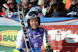 Sara Hector skrattar efter sin sjunde plats, men är inte nöjd med sin insats.