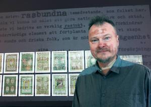 Fredric Ceson, konstnär från Gävle, konfronterar de högerextrema krafter som hotar yttrandefriheten, i utställningen