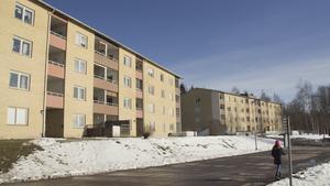 Kommun har ett 40-tal lägenheter på Släntvägen i Skinnskatteberg, fördelat på två hyreshus.