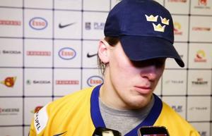Robert Häggs silvertårar 2014, efter misstaget som sänkte Sverige i finalen mot Finland.
